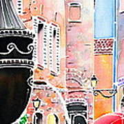Raining In St-paul De Vence Art Print