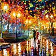 Rain's Rustle - Palette Knife Oil Painting On Canvas By Leonid Afremov Art Print