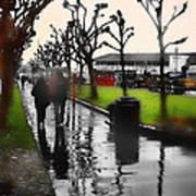 Rainy At The Pier Art Print