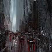 Rainy City. Part II Art Print