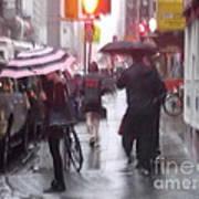 Rainy Corner - New York City Art Print