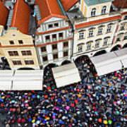 Rainy Day In Prague-1 Art Print by Diane Macdonald