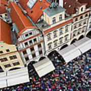 Rainy Day In Prague-2 Art Print