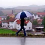 Rainy Day In Sembach Art Print