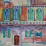Rainy Day In Venice Italy Art Print
