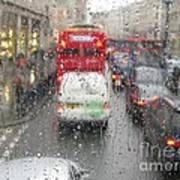 Rainy Day London Traffic Art Print