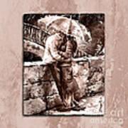 Rainy Day - Love In The Rain Style Mistyrose Art Print