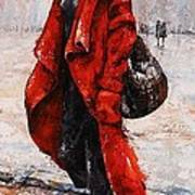 Rainy Day - Red And Black #2 Art Print by Emerico Imre Toth