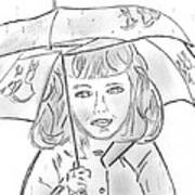 Rainy Day Smile Art Print