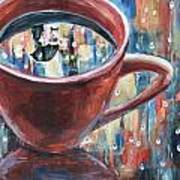 Rainy Diamonds Cafe' Art Print