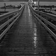 Rainy Evening On The Dock Art Print
