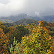 Rainy Fall Day In The Mountains Art Print