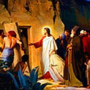 Raising Of Lazarus Art Print