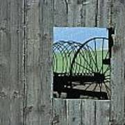 Rake And Barn Print by Doug Davidson