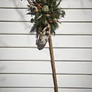 Rake And Wreath Art Print