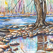 Ralph Stover Park In The Spring Art Print by Patricia Allingham Carlson