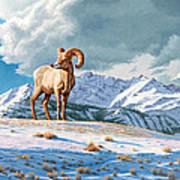 Ram And Electric Peak Art Print