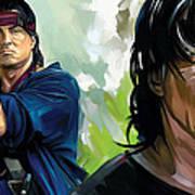 Rambo Artwork Art Print