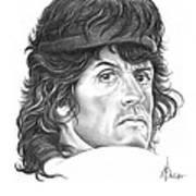 Rambo-sylvester-stallone Art Print by Murphy Elliott