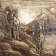 Rams Relief Art Print