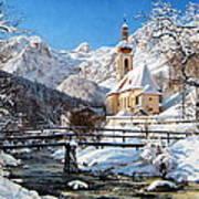 Ramsau Church Germany Art Print