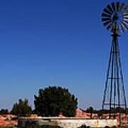 Ranch Windmill Art Print