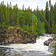 Rancheria Falls Along Alaska Highway In Yk-canada   Art Print