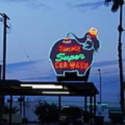 Rancho Super Car Wash Art Print