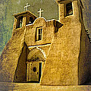 Ranchos Church In Old Gold Art Print