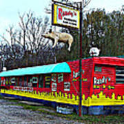 Randy's Roadside Bar-b-que Art Print