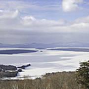 Rangeley Maine Winter Landscape Art Print