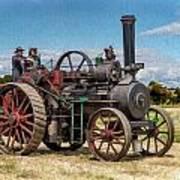 Ransomes Steam Engine Art Print