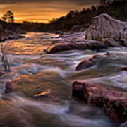 Rapids At Dawn Art Print