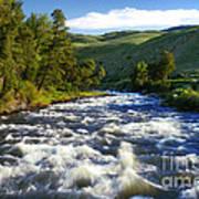 Rapids In Yellowstone Art Print