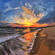 Rare California Sunset Art Print