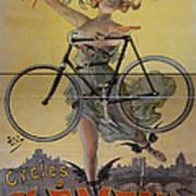 Rare Vintage Paris Cycle Poster Art Print