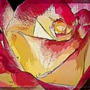Rasberries And Cream Painterly Art Print