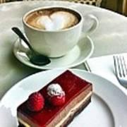 Raspberry Delice And Latte Art Print