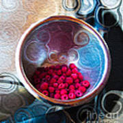 Raspberry Reflections Art Print