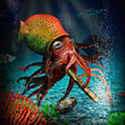 Rasta Squid Art Print