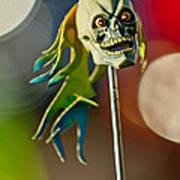 Rat Rod Antenna Skull  Art Print