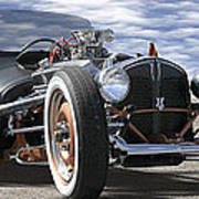 Rat Rod On Route 66 2 Panoramic Art Print