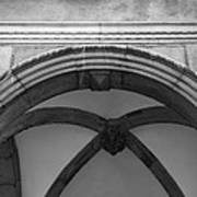 Rathaus Arch Bw Cologne Germany Art Print
