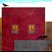 Raven And Cat Art Print