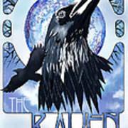 Raven Illustration Art Print by Sassan Filsoof