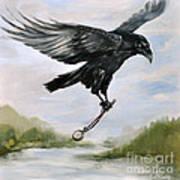 Raven Stealing Time Art Print