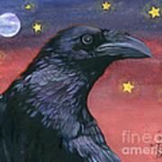 Raven Steals The Moon - Moon What Moon? Art Print