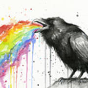 Raven Tastes The Rainbow Art Print