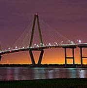 Ravenel Bridge At Night Art Print