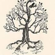 Raven's Magic Oak Art Print